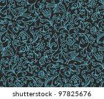 Seamless Floral Pattern. Vector illustration. - stock photo