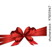 Red Ribbon And Bow Background ...