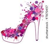 grunge shoe over white... | Shutterstock .eps vector #97870457