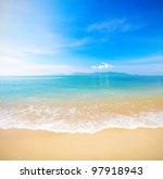 beach and beautiful tropical sea | Shutterstock . vector #97918943