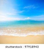 beach and beautiful tropical sea | Shutterstock . vector #97918943