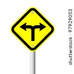 traffic sign on yellow plate to ... | Shutterstock . vector #97929053