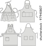 apron with pockets  a shoulder... | Shutterstock .eps vector #97940807