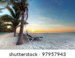 sunrise at caribbean sea in... | Shutterstock . vector #97957943