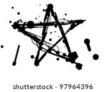 Star of blots and blobs  on a white background. A vector illustration - stock vector