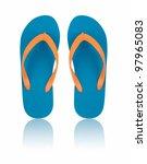 flip flops isolated on white | Shutterstock . vector #97965083