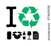 I Recycle - stock vector