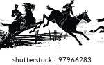 cossacks on horseback. hussar.... | Shutterstock . vector #97966283