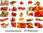 collage of many different... | Shutterstock . vector #97980203