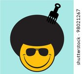 afro smiley face   Shutterstock .eps vector #98021267