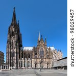 Cologne Cathedral on the south side, Germany - stock photo