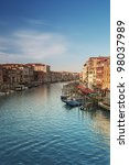 Grand Canal in Venice - Italy. - stock photo