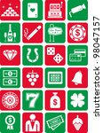 casino icons | Shutterstock .eps vector #98047157