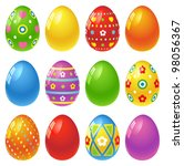 easter eggs | Shutterstock .eps vector #98056367