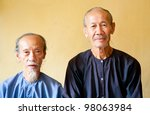 Vietnamese monks - stock photo