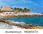 Xcaret park near Cozumel in Mexico - stock photo