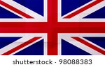 flag of great britain with... | Shutterstock . vector #98088383