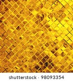 grunge gold mosaic, gold background - stock photo