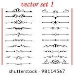 vector set 1  calligraphic... | Shutterstock .eps vector #98114567