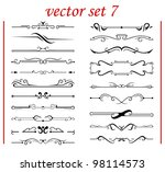 vector set 7  calligraphic... | Shutterstock .eps vector #98114573