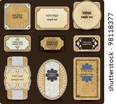 vintage vector set labels | Shutterstock .eps vector #98118377