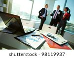 image of business documents on...   Shutterstock . vector #98119937