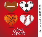 textures of different sports...   Shutterstock .eps vector #98127263