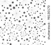 pattern star - stock vector