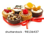 Colorful mini-cupcakes - stock photo