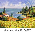 Постер, плакат: sea landscape painting