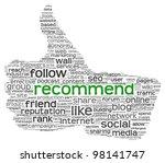 recommend as social media... | Shutterstock . vector #98141747