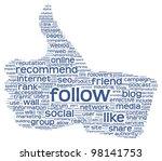 follow as social media concept... | Shutterstock . vector #98141753