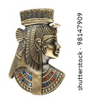 head staue of egyptian queen Cleopatra - stock photo