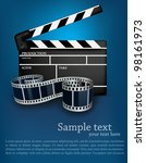 blue cinema background with... | Shutterstock .eps vector #98161973