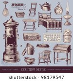 Vector Set  Country Home  ...
