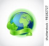 illustration of green earth... | Shutterstock .eps vector #98182727