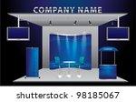 vector blank trade exhibition... | Shutterstock .eps vector #98185067