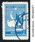 turkey  circa 1941  a stamp...   Shutterstock . vector #98186057