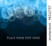 Abstract Bubbles Blue Vector...