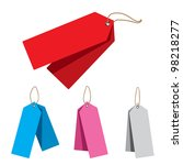 doubled price tags | Shutterstock . vector #98218277