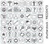 sketchy doodle web   computer... | Shutterstock .eps vector #98220473