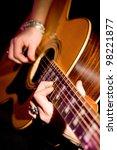 musician playing guitar | Shutterstock . vector #98221877