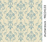 seamless damask wallpaper | Shutterstock .eps vector #98224133
