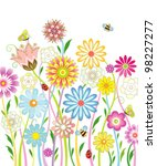 background with flowers | Shutterstock .eps vector #98227277