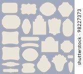 set of vintage simple paper...   Shutterstock .eps vector #98227373