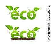 ecology header or logo | Shutterstock .eps vector #98228243