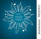 abstract real estate vector... | Shutterstock .eps vector #98232917