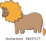 nice lion isolated | Shutterstock .eps vector #98237177