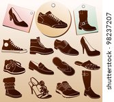 different shoes icons with... | Shutterstock .eps vector #98237207