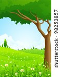 great green landscape with... | Shutterstock .eps vector #98253857